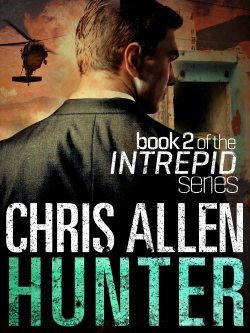 Best-selling action thriller and espionage novel Hunter featuring Alex Morgan and Intrepidl