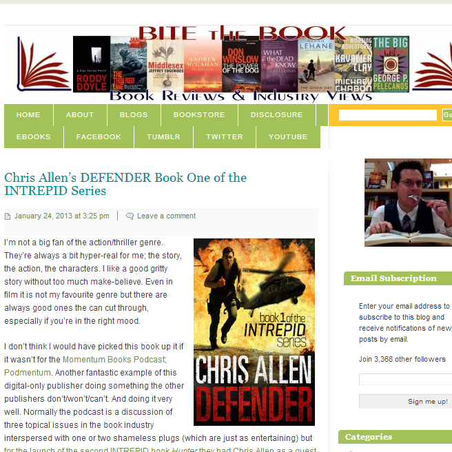 Bite the Book Defender review