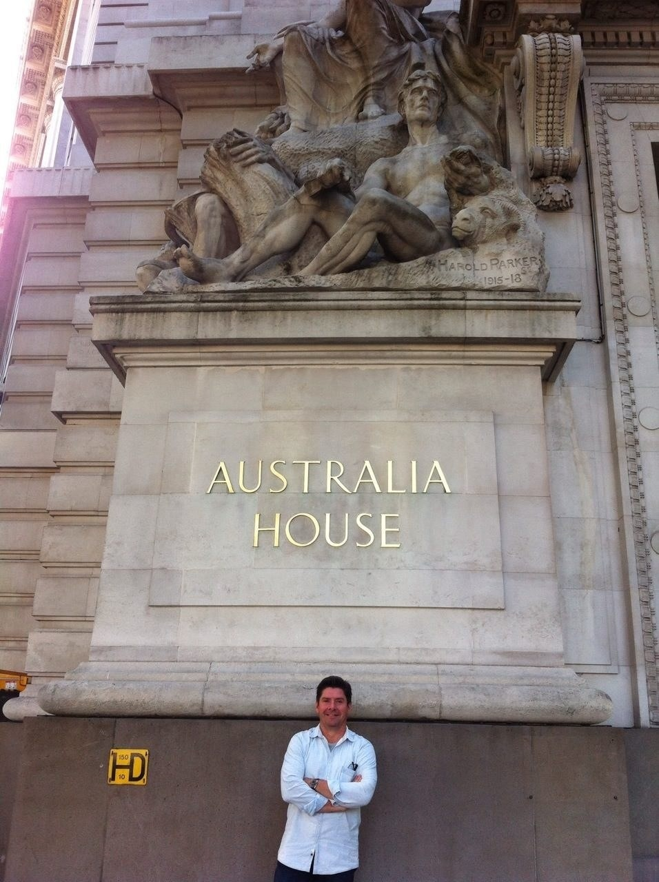 Outside Australia House, otherwise known as the Australian High Commission. This place became well known to me when I was first sent to London on attachment to the British Army!