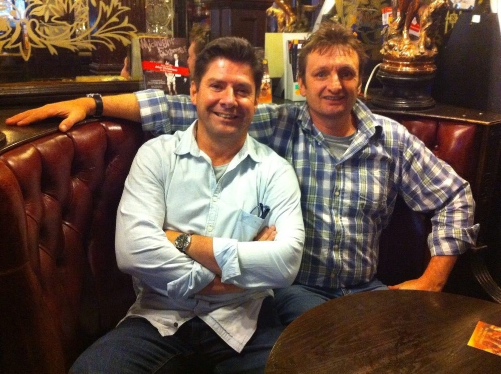 Here I am with one of my best mates Dick, at the Salisbury where I was with our families back in 2009 for a drink - down to the exact same seat!