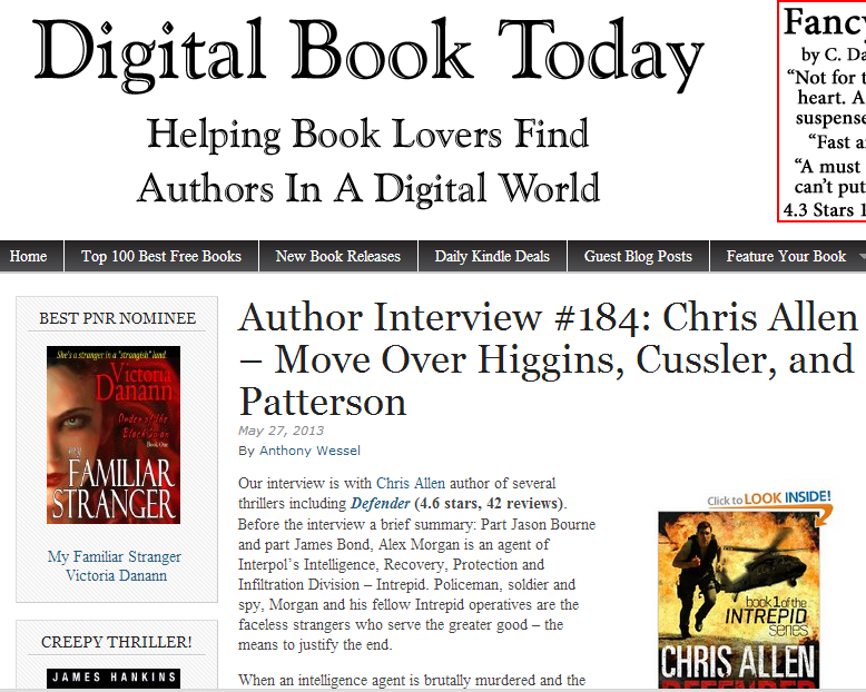 Chris Allen - Move over Higgins, Cussler and Patterson