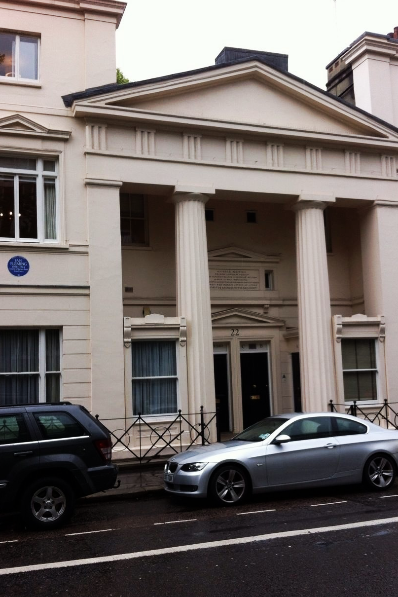 Not just any house, this was Ian Fleming's home located on Ebury St in London.