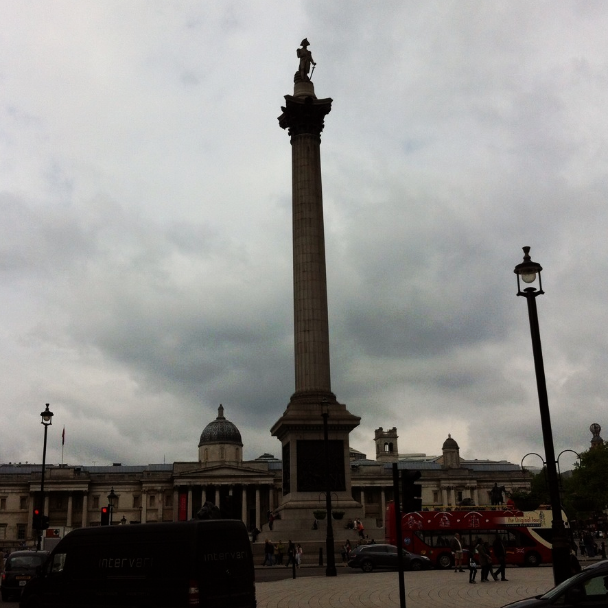 My favourite landmark in London: Nelson's Column, Trafalgar Square.
