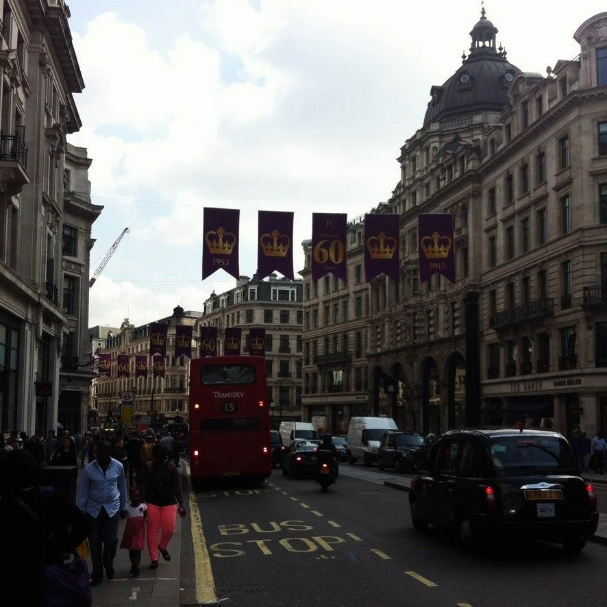 Quintessential London, walking towards Piccadilly from Oxford Circus.