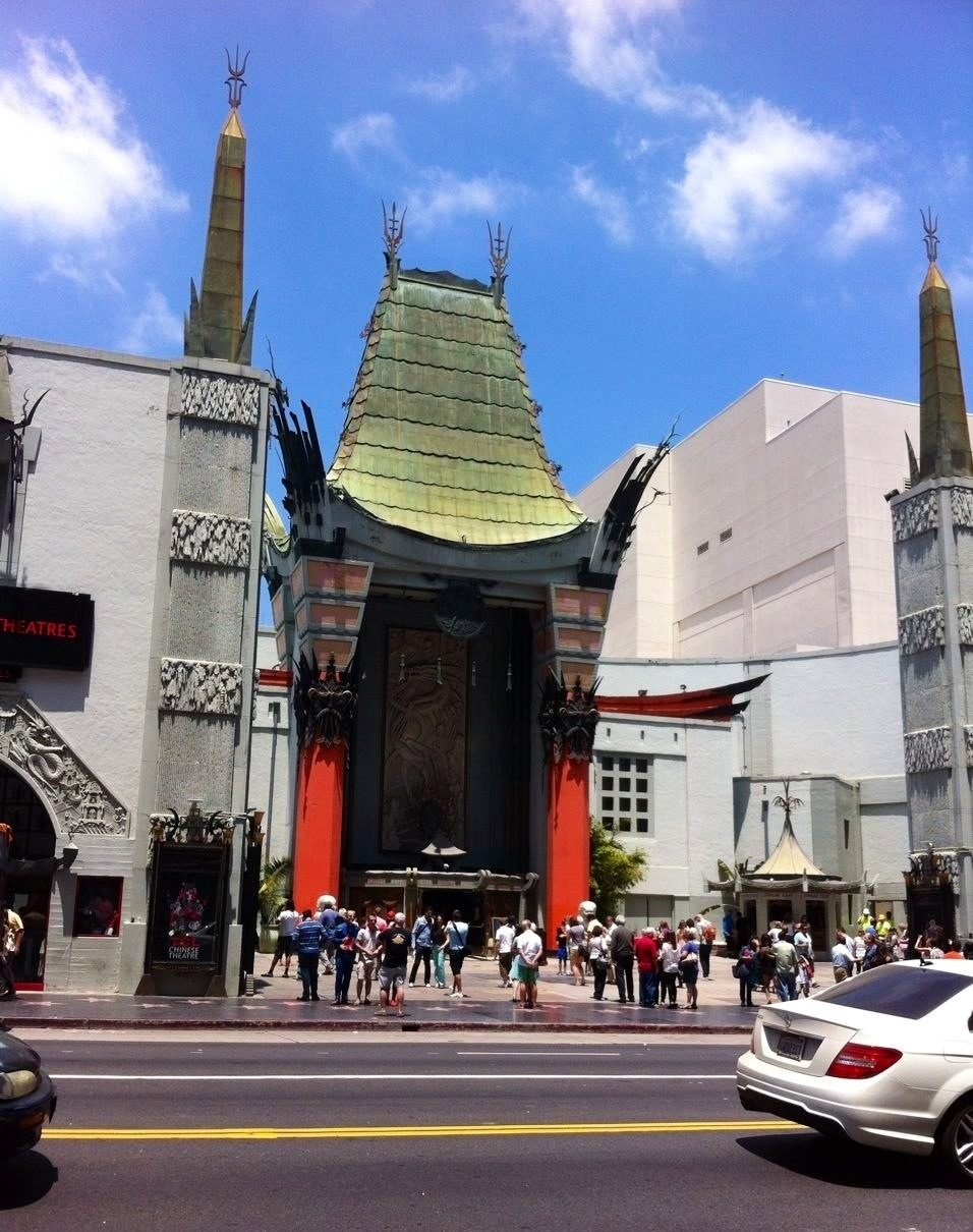 The Chinese Theatre which is famous in Hollywood, and you may have seen it in an action scene from Iron Man 3 as well!