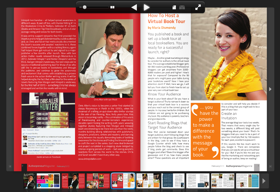 Cover story with Chris Allen on straddling the publishing divide in Authorpreneur Magazine.
