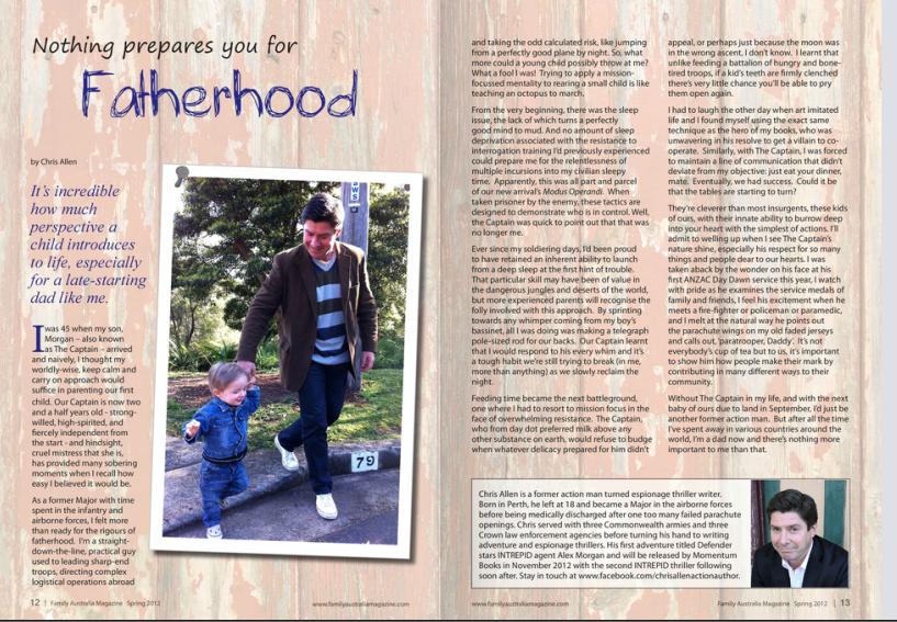 Guest article by thriller writer Chris Allen on how nothing prepares you for fatherhood.