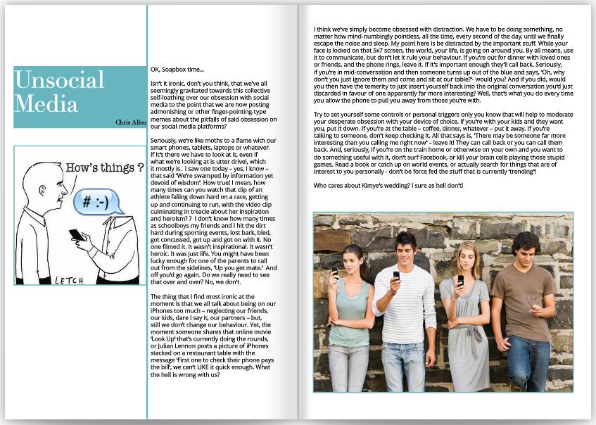 Unsocial Media GLOSS Magazine