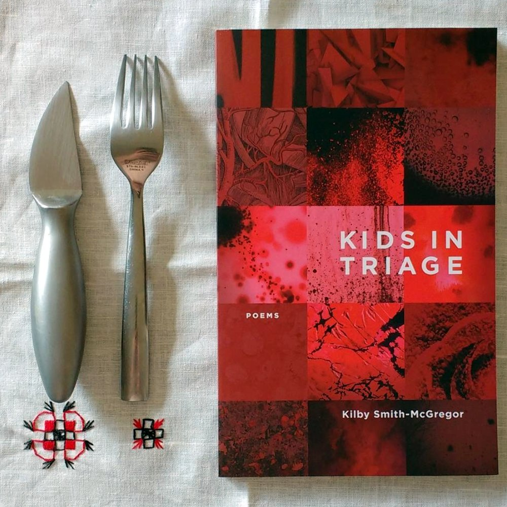 Image of  KIDS IN TRIAGE  for  knife | fork | book  by Jeff Kirby