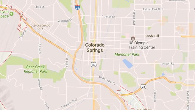 Colorado Springs Map — Colorado Springs