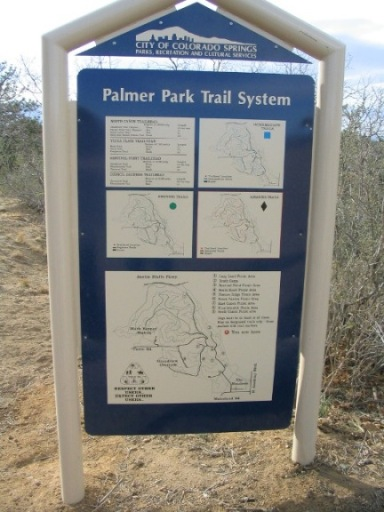 Palmer Park Hiking Map