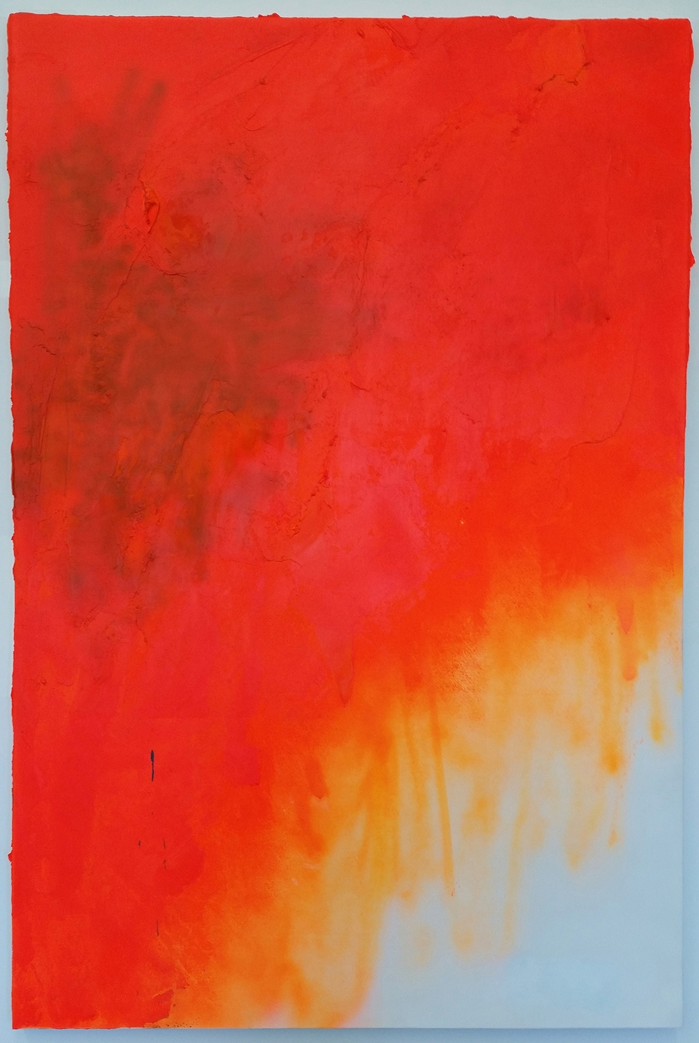 Orange Monochrome, 2014  Oil and Acrylic on canvas  72 x 48 inches