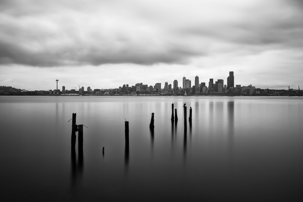 View from West Seattle - 160 seconds at f/11