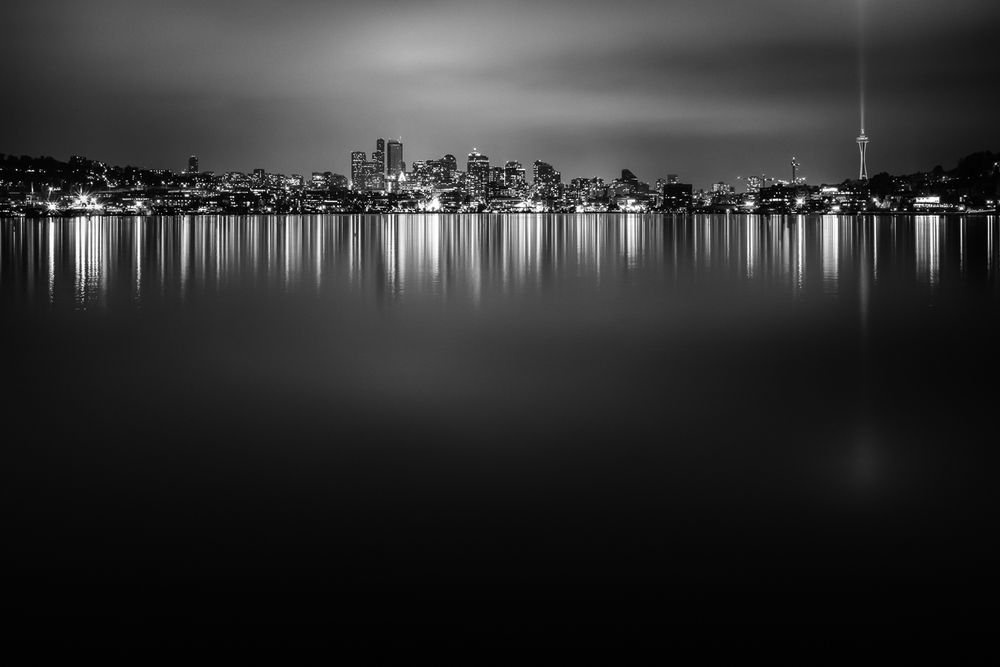 Seattle Skyline - 58 seconds at f/16