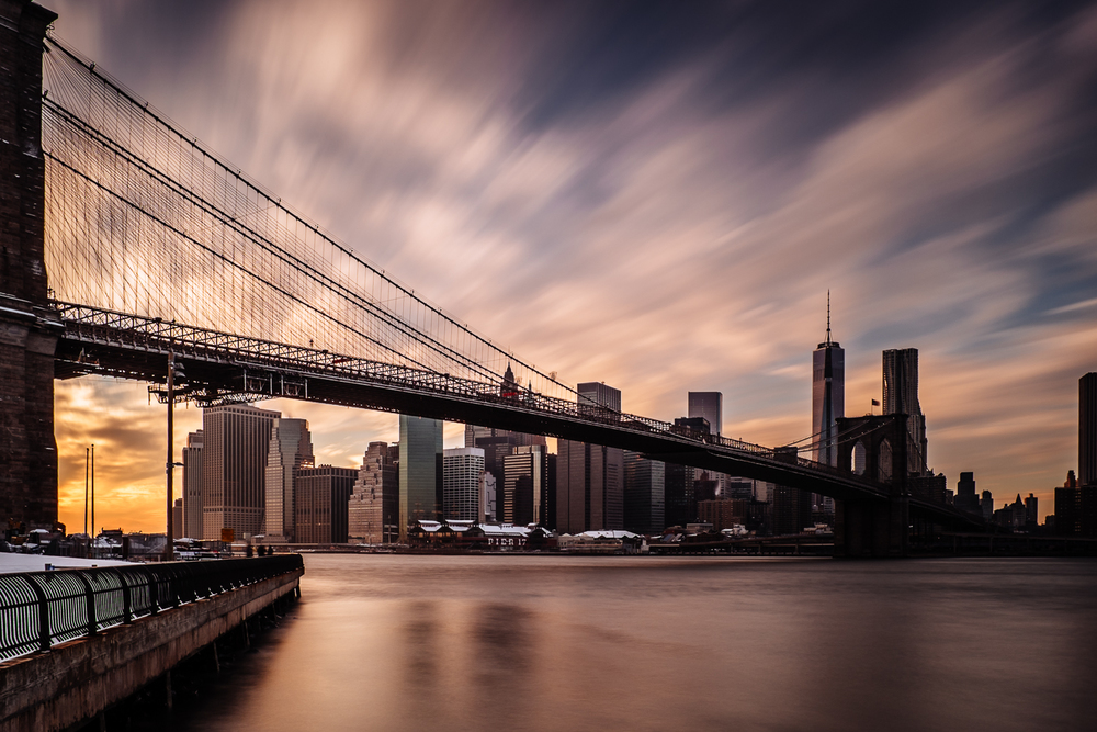 Brooklyn Bridge Sunset - 28 seconds at f/11
