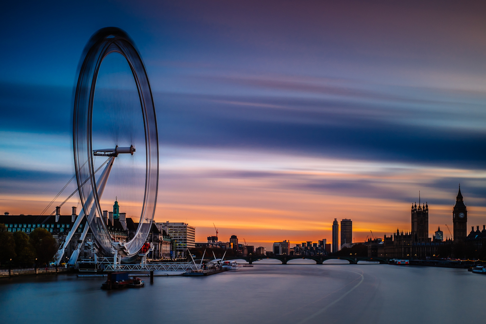London Eye sunset long exposure - London