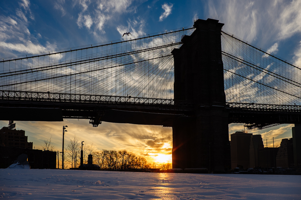 Brooklyn Bridge sunset - New York City