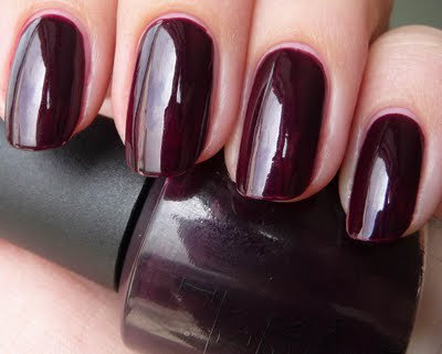 Tie it all in with a great nail polish color this one is from OPI BLACK CHERRY CHUTNEY