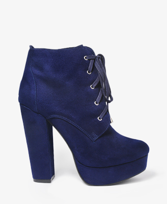 Lace-Up Platform Booties $34.80