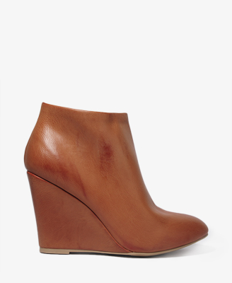 Faux Leather Wedge Booties $19.50