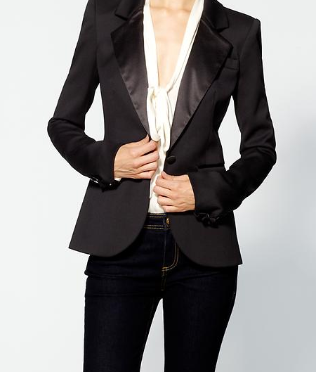 Hutton Tuxedo Jacket   by  Rachel Zoe $425