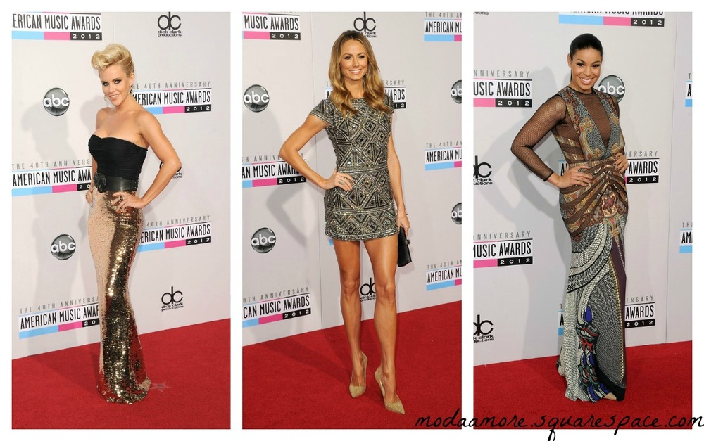 Jenny McCarthy.Stacy Keibler in Collette Dinnigan.Jordin Sparks in Etro