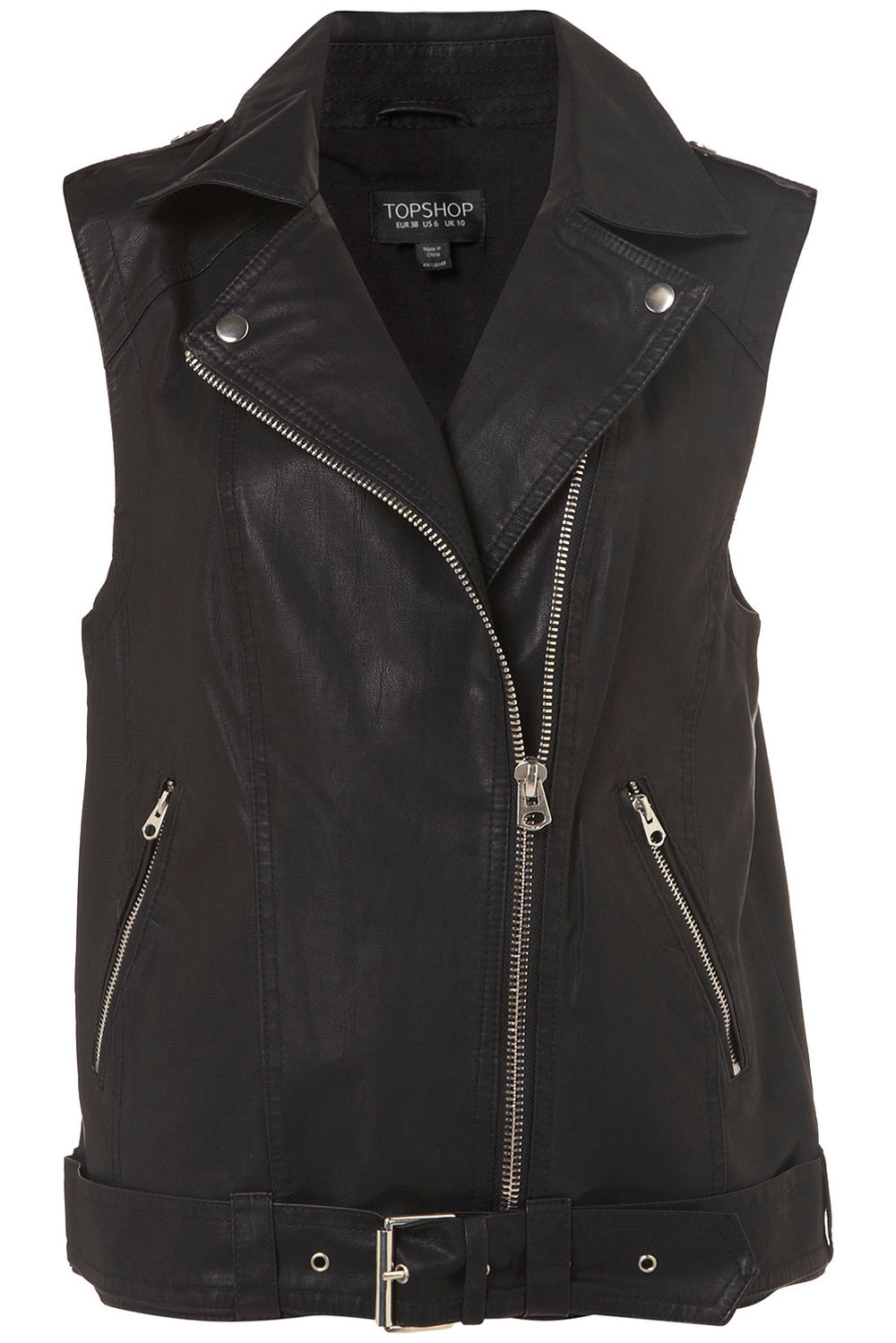 Over sized Sleeveless Biker Jacket Price: $96.00Topshop.com