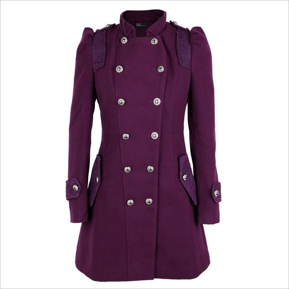 Lace-Trim Double-Breasted Coat Price:$92 YESSTYLE.COM