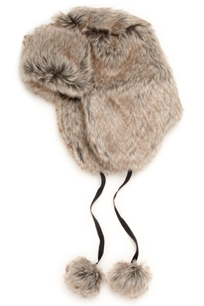 Furry Fix Trapper hat $68.00 Frenchconnection.com