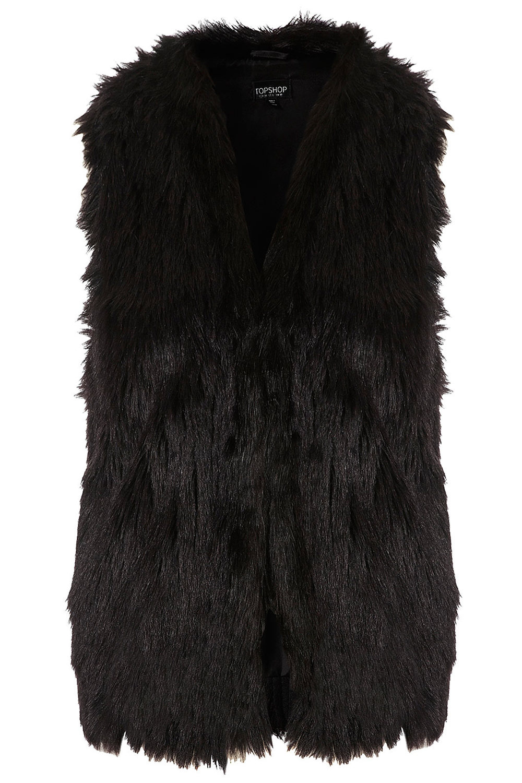 Tassle Hem Faux Fur Gilet $110  Topshop.com