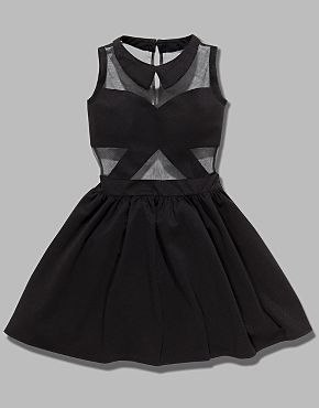 Tulisa TFB  Mesh Panel Skater Dress.  Price:42.00 bankfashion.co.uk