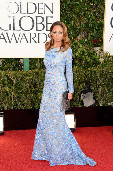 Nicole Richie Wowed in this long sleeved gown by Naeem Khan
