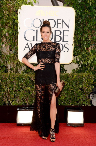 I am crazy for Louise Roe & many may disagree but sheer panels are so in for 2013. This Glamour Fashion Editor pushed the envelope & in my book it works wonderfully. Dress By Vera Wang