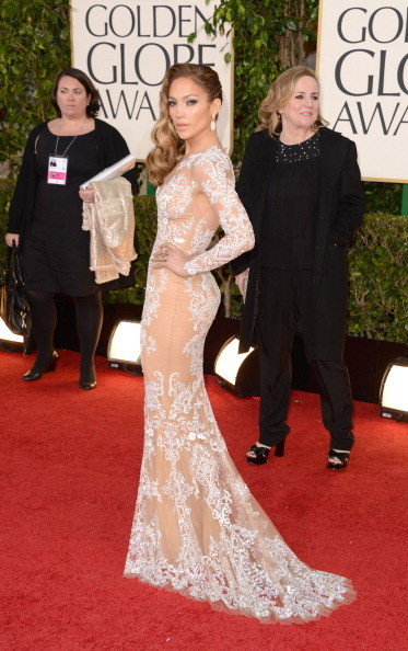 Jennifer Lopez always brings sexy to a red carpet. Dress By Zuhair Murad