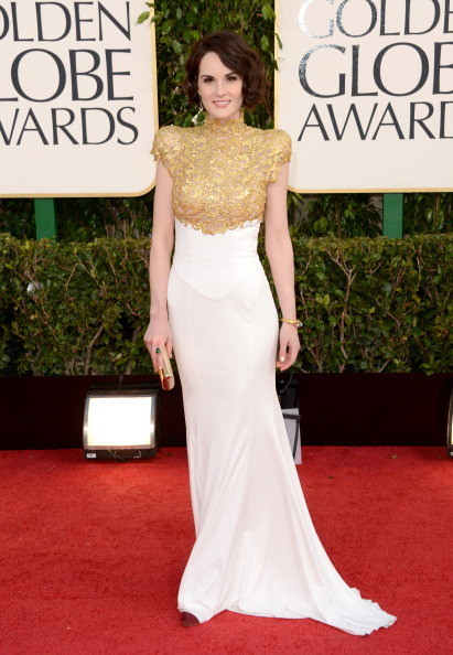 Michelle Dockery, I am a sucker for high neck gowns. Dress By Alexandre Vauthier