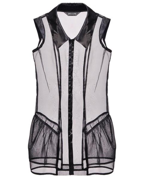 Sheer Organza Vest. Price:$106.80 CHICNOVA.COM