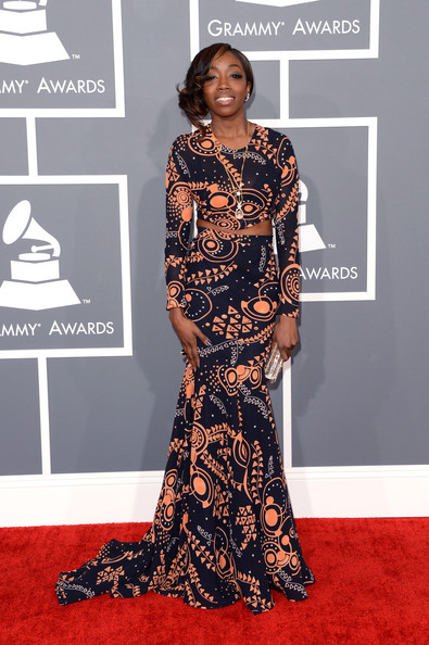 Estelle stunned in a patterned Genelle Brooks x Love Collins dress