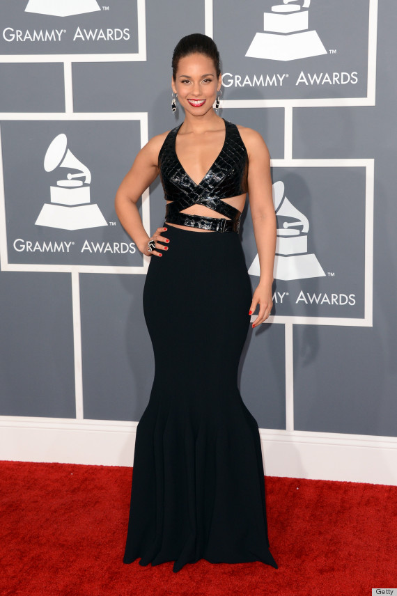 Alicia Keys in  Azzedine Alaia