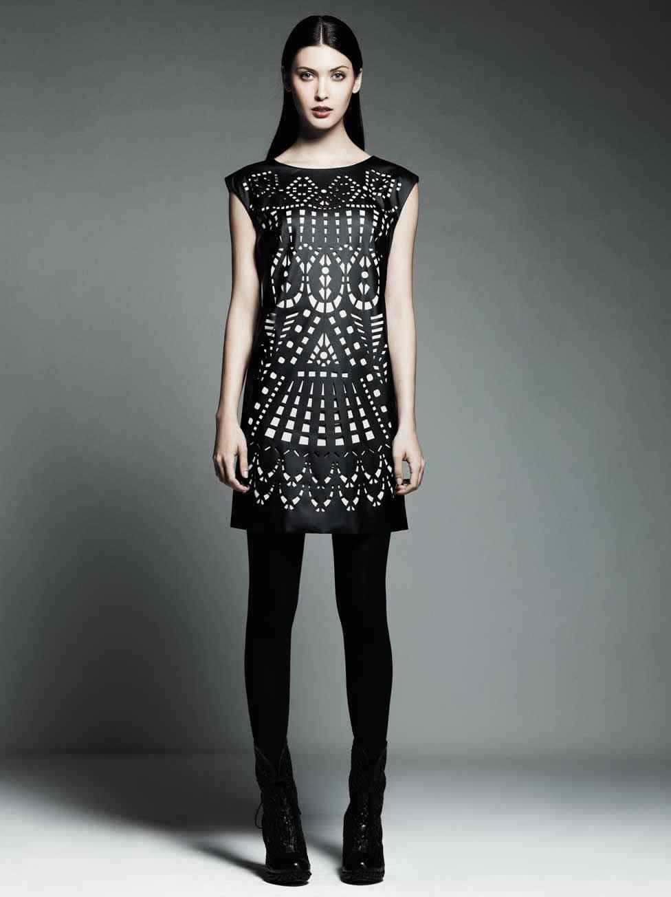 Catherine Malandrino for DesigNation Laser-Cut Shift Dress Price:$88