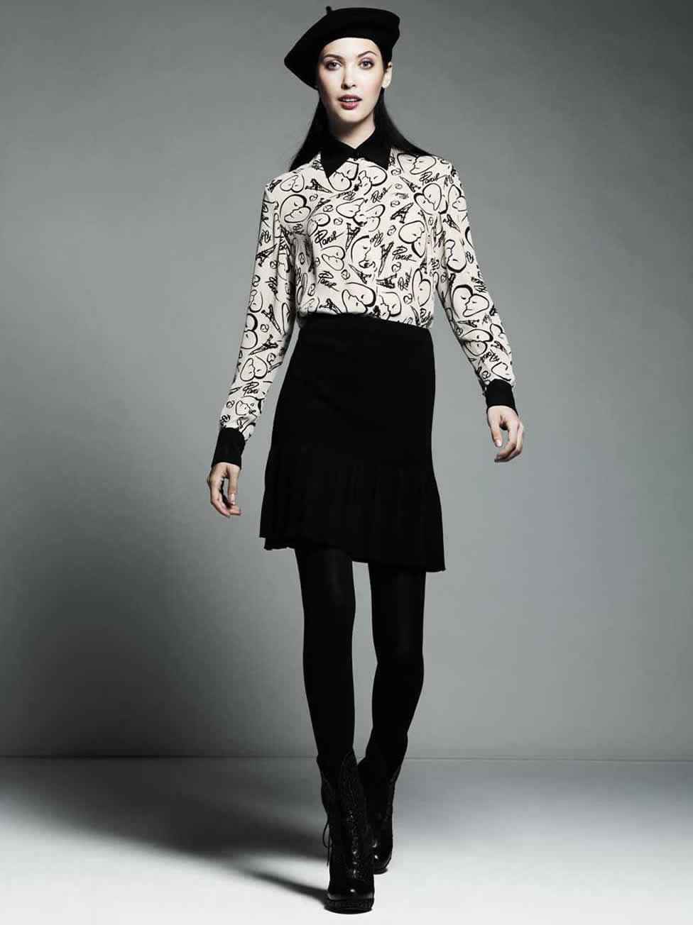 Très Chic Workweek Print Blouse with Skirt Price:$50-$54