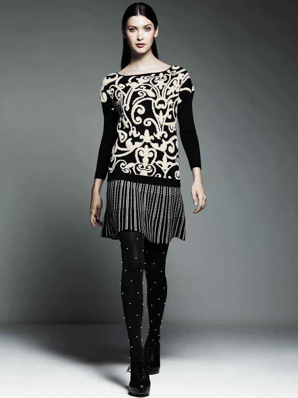 Très Chic Workweek Jacquard Sweater with Skirt Price: $50-$68