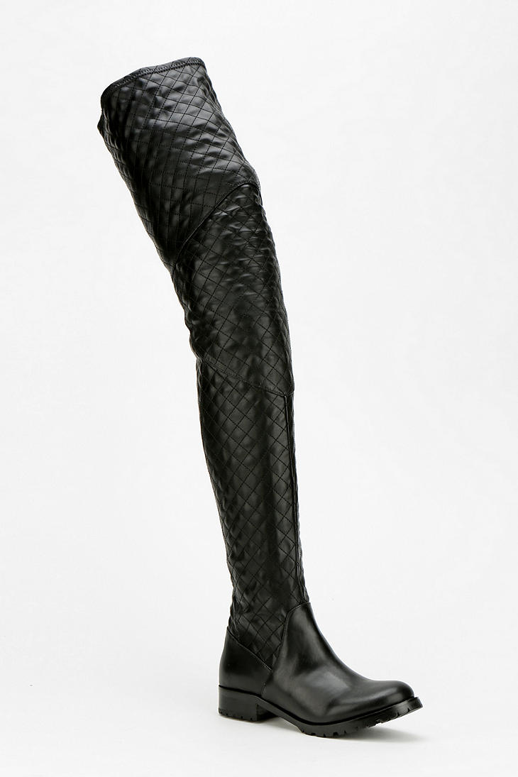 Jeffrey Campbell Warfare Quilted Over-The-Knee Boot $270.00    Urbanoutfitters.com