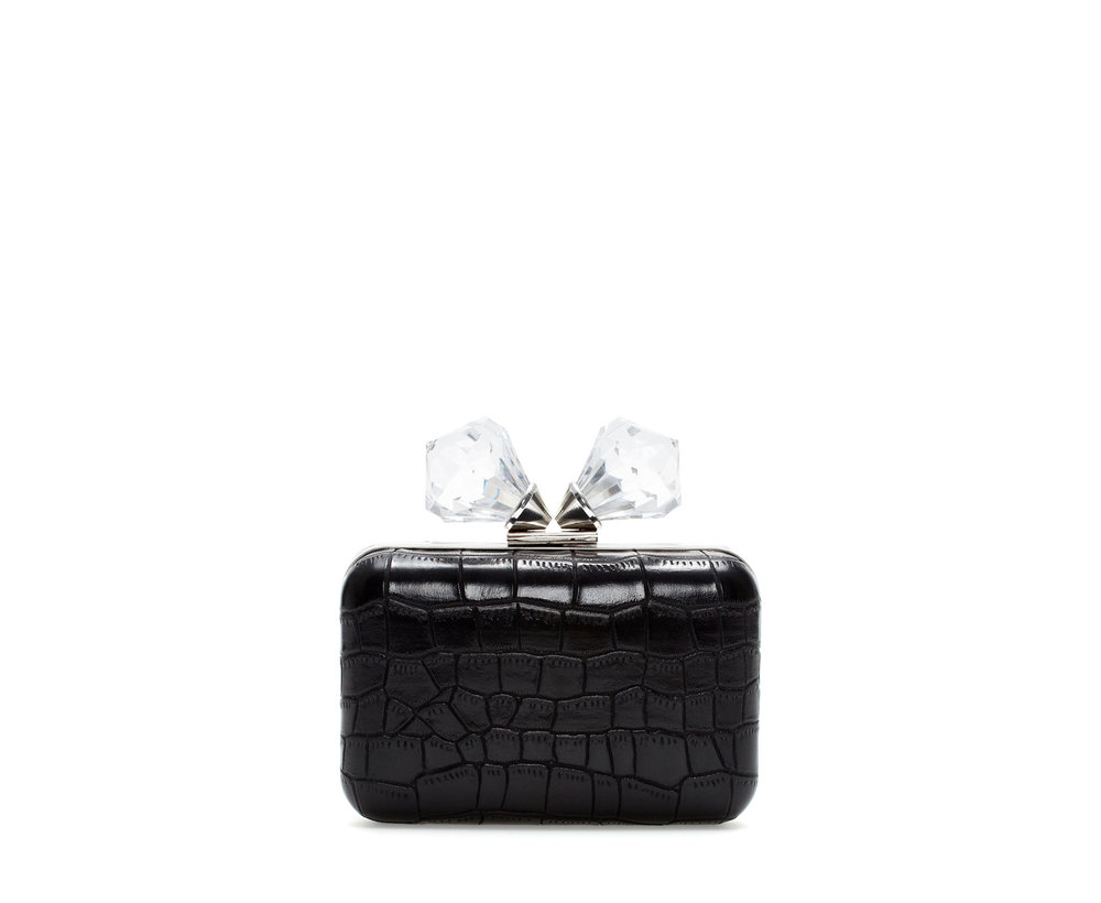 CLUTCH WITH GLASS CLASP     $49.90