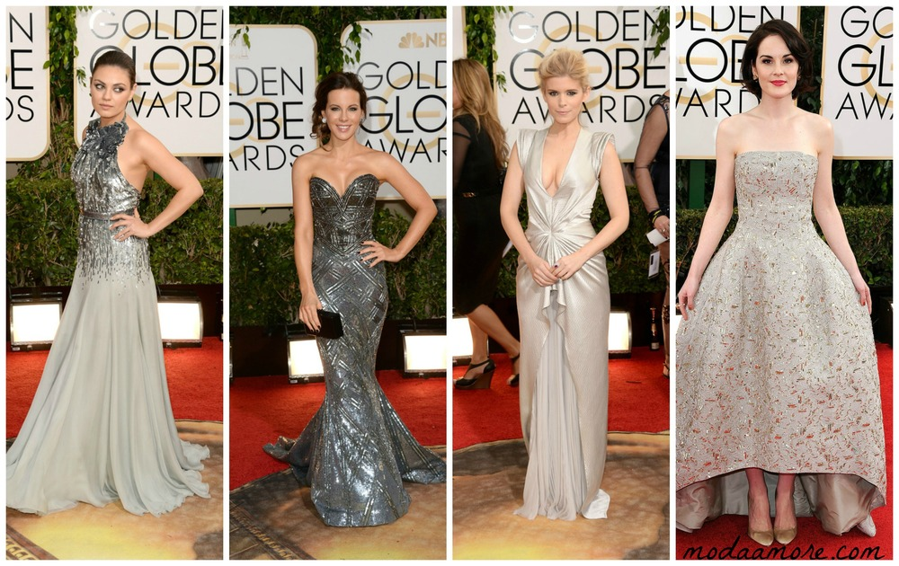 Mila Kunis in Gucci, Kate Beckinsale in Zuhair Murad, Kate Mara in J. Mendel, Michelle Dockery in Oscar De La Renta
