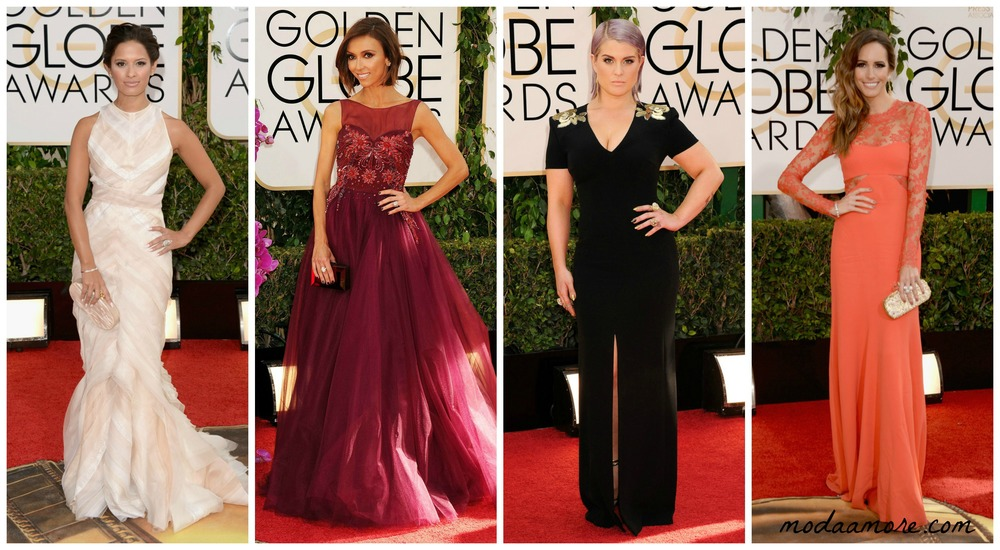Rosci Diaz in Edie Parker, Giuliana Rancic in Lorena Sarbu Kelly Osbourne in Escada, Louise Roe in Monique Lhuillier