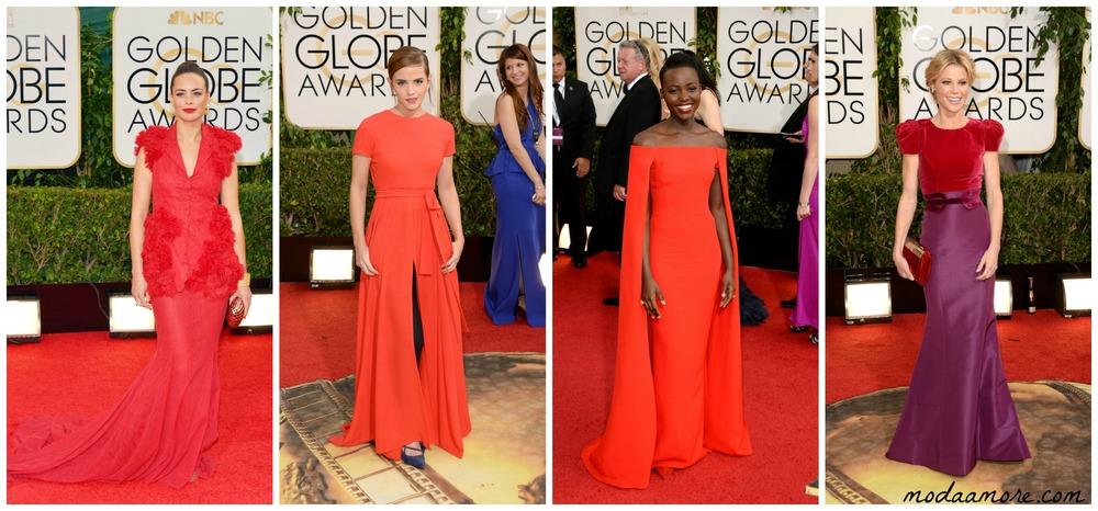 Emma Watson in Dior, Lupita Nyong'o in Ralph Lauren, Julie Bowen in Carolina Herrera