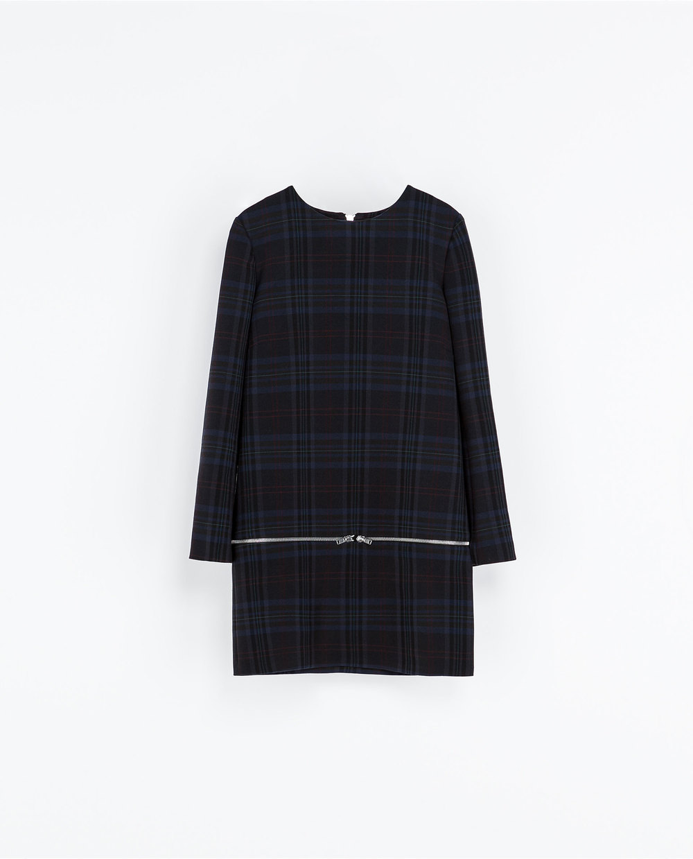 Checkered Dress With Zips. ZARA.COM Price: $119.00 On sale $39.99
