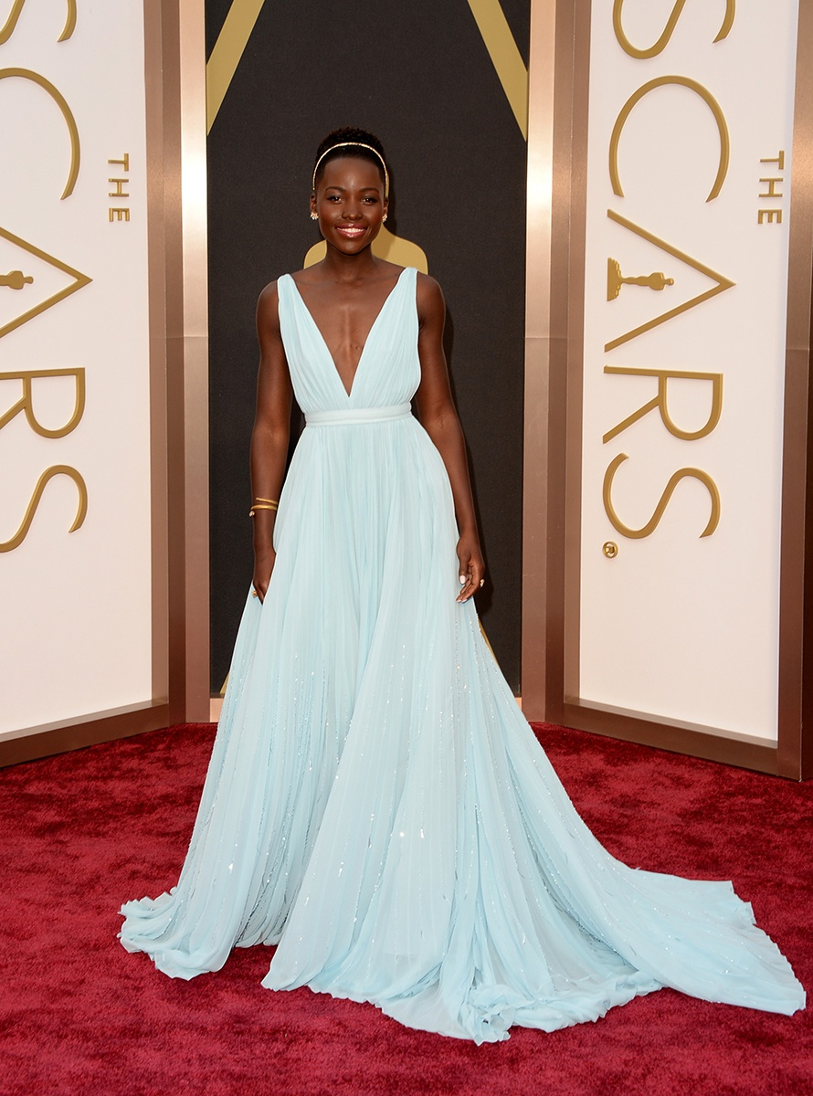 Lupita Nyong'o in Prada and Fred Leighton Jewels