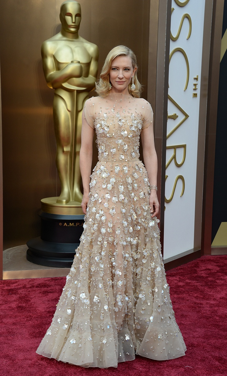 Cate Blanchett in Armani Prive and Chopard Jewels