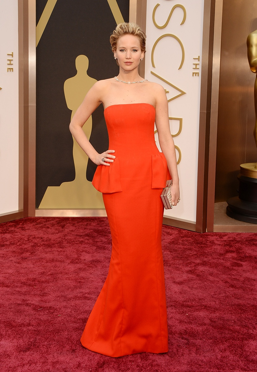 Jeniffer Lawrence in Dior Haute Couture and Neil Lane jewels.